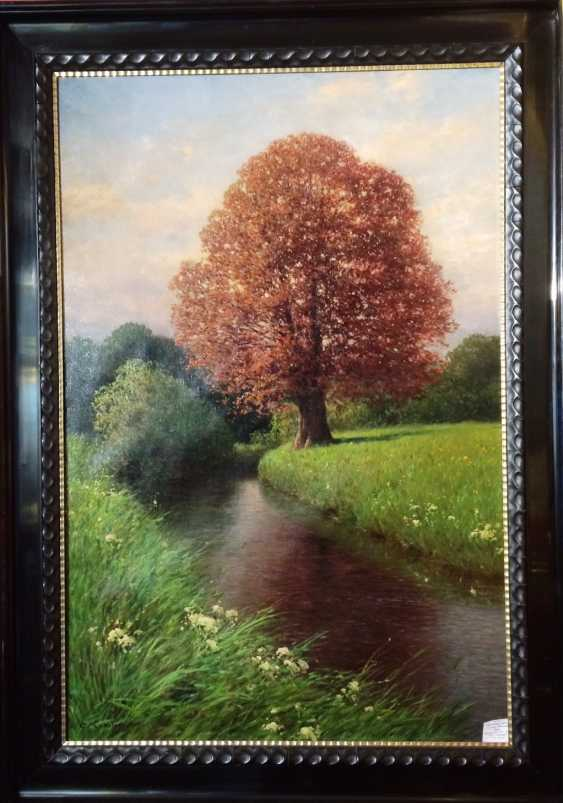 "The painting ""Oak by the river"". Kesler, Carl. Germany, 1917. - photo 2"