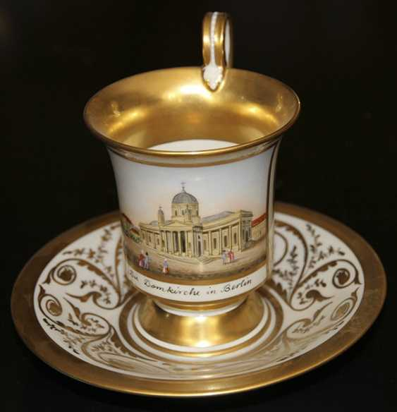 Cup and saucer with views of the Church in Berlin, KPM, first third of the XIX century - photo 2