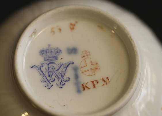 Cup and saucer from the service with a crest and monogram, KPM, mid XIX century - photo 5