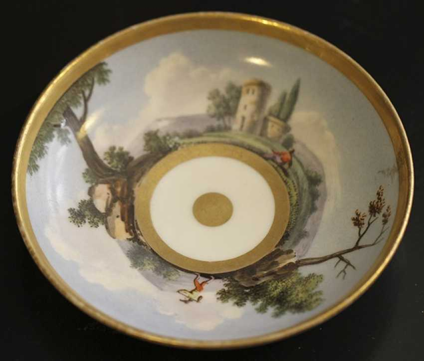 Cup and saucer with landscape, Western Europe, mid XIX century - photo 3