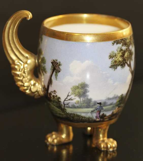Cup and saucer with landscape, Western Europe, mid XIX century - photo 4