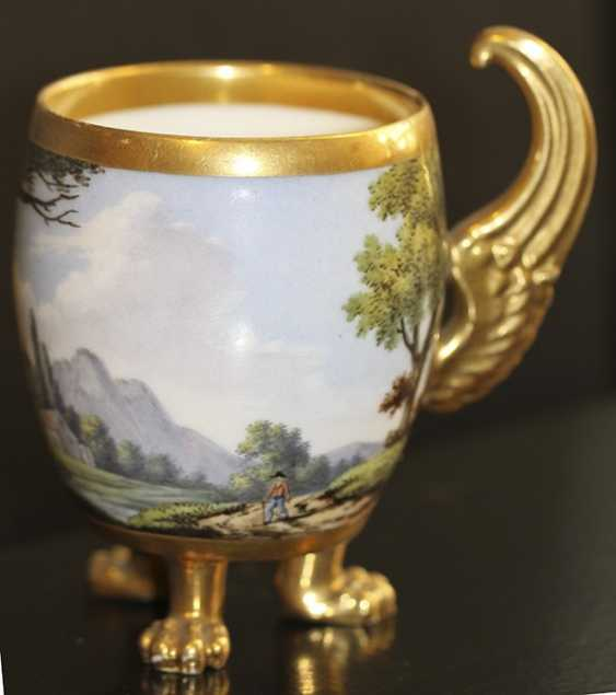Cup and saucer with landscape, Western Europe, mid XIX century - photo 5