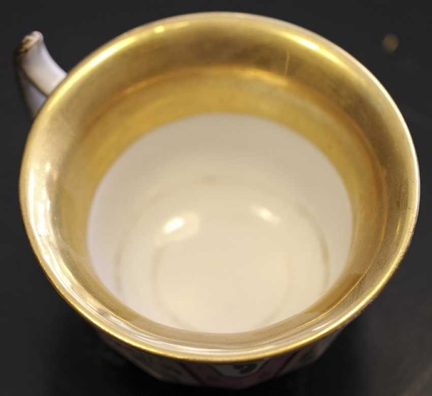 Cup and saucer with ornament, KPM, mid XIX century - photo 3
