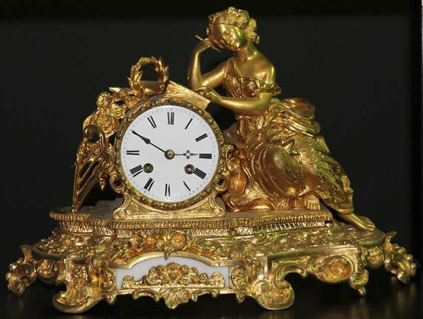 Bronze clock, France - photo 1