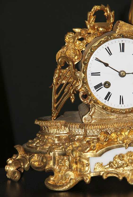Bronze clock, France - photo 2