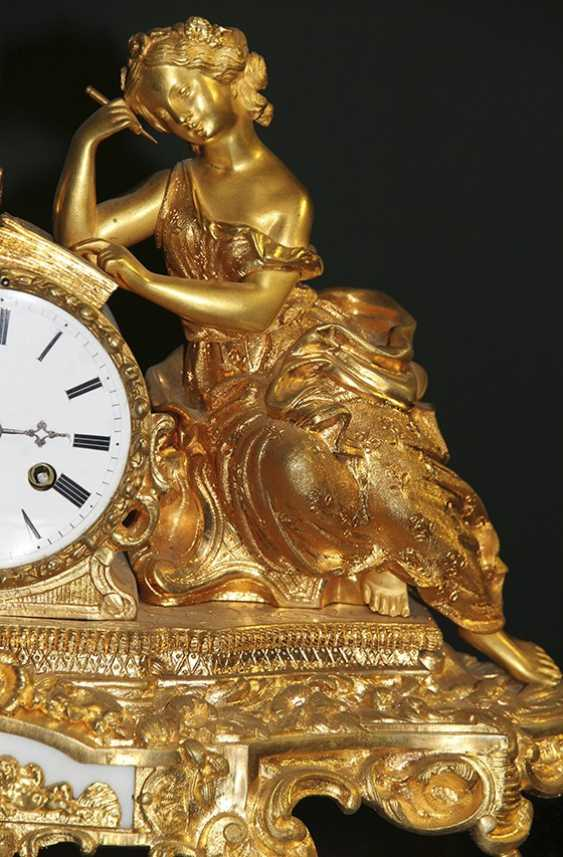 Bronze clock, France - photo 3