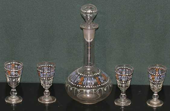 Decanter and 4 shot glasses. Russia - photo 1