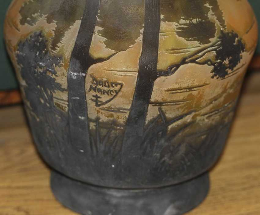 Landscape vase with Daum Nancy, France - photo 2