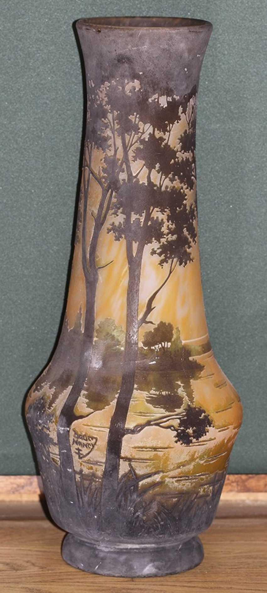 Landscape vase with Daum Nancy, France - photo 1