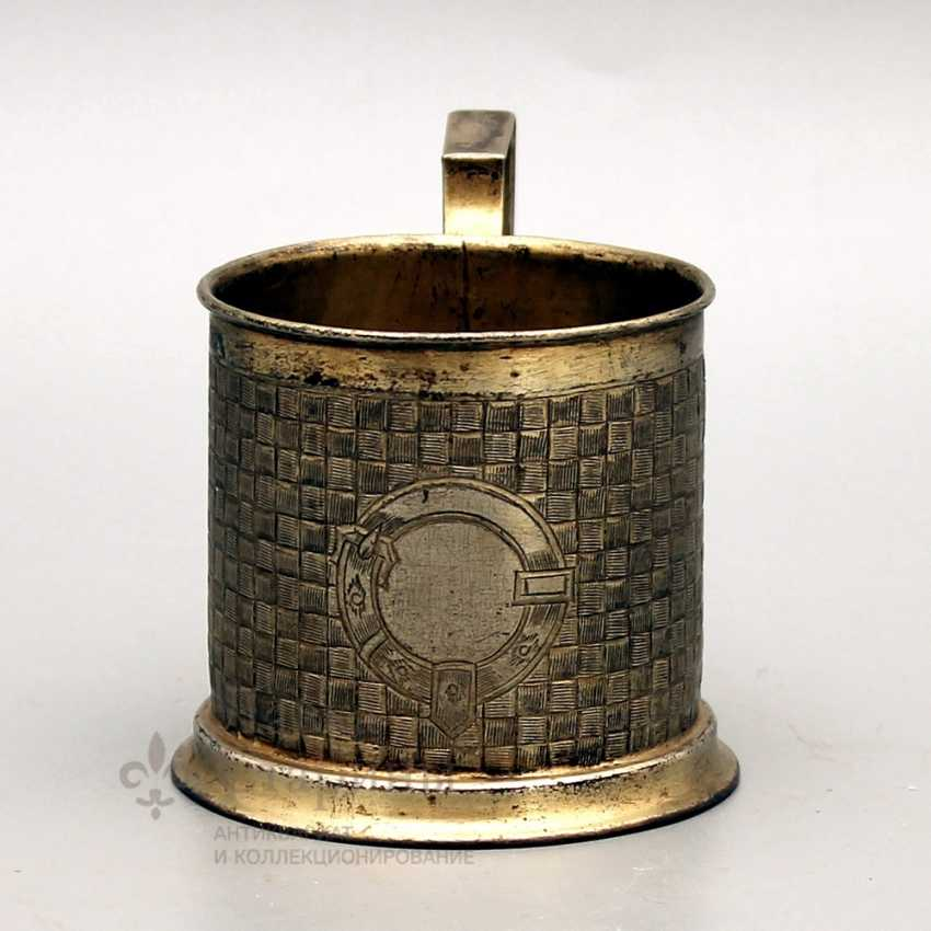 Silver holder with imitation of braiding from birch bark, Russia, 1890, 84 sample - photo 2