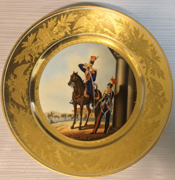 The military bowl. Imperial Porcelain Factory, Russia, Saint Petersburg. Artist N. Kornilov 1832 d - photo 1