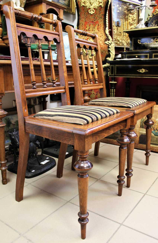 Pair of chairs in walnut, 1-I half of XX century - photo 2