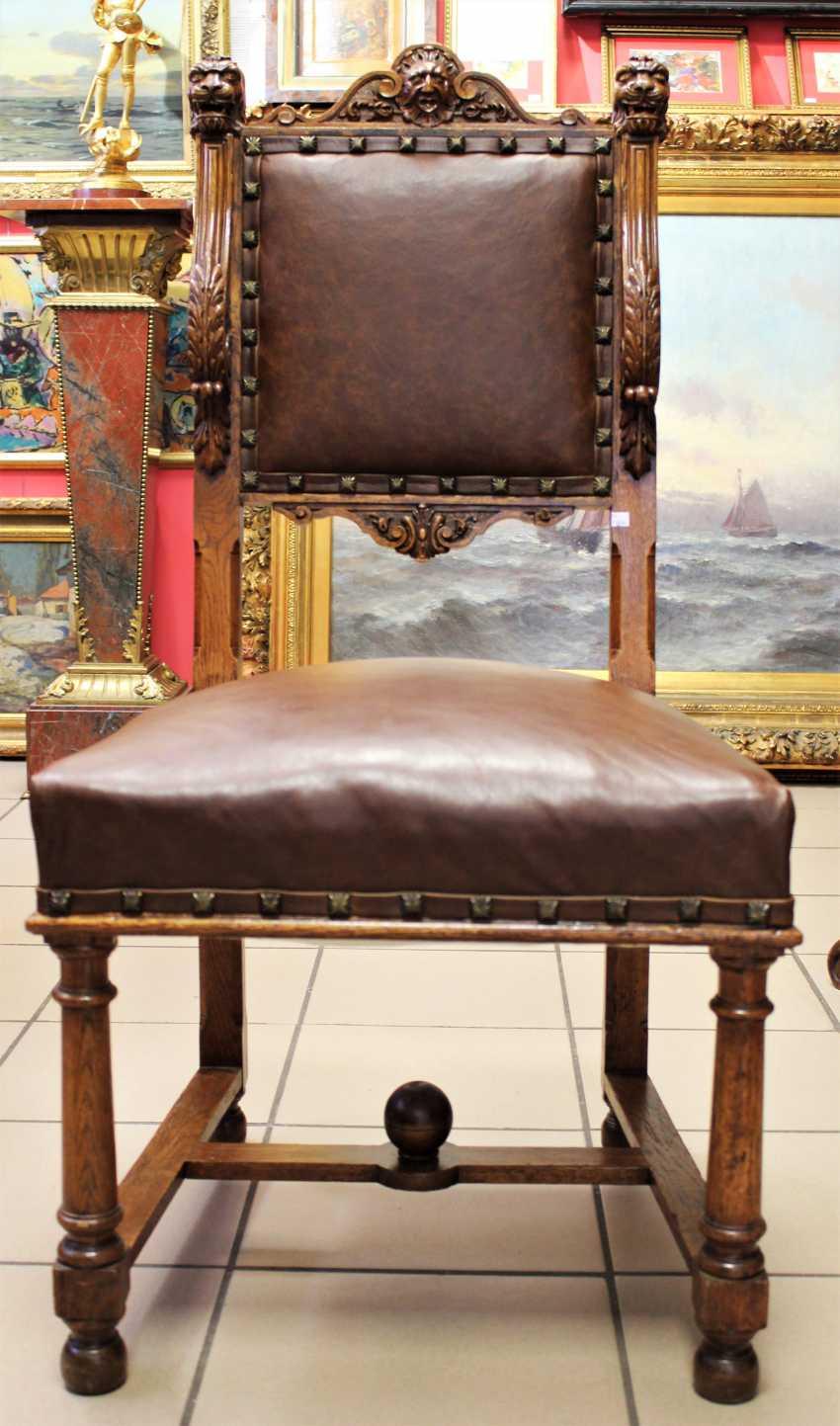 Sessel aus Nussbaum, XIX Jahrhundert - Foto 2