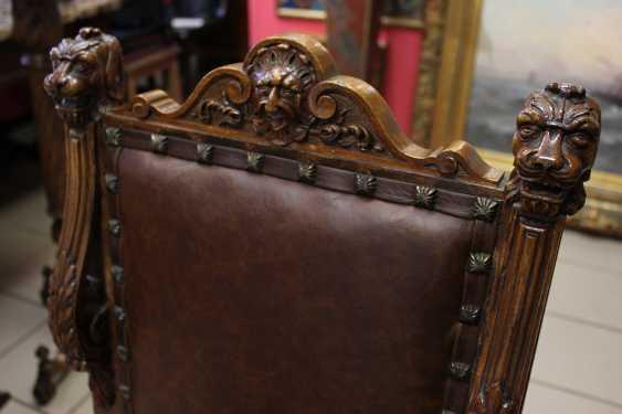 Sessel aus Nussbaum, XIX Jahrhundert - Foto 4