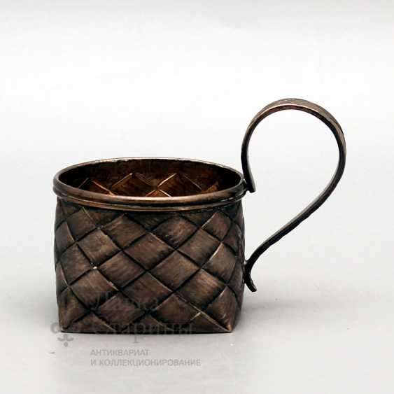 Silver holder with imitation of braiding from birch bark, Russia, late 19th century, 84 sample - photo 1