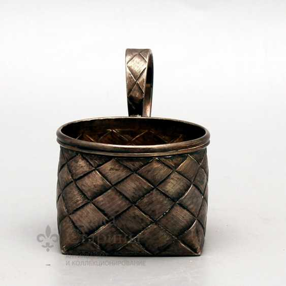 Silver holder with imitation of braiding from birch bark, Russia, late 19th century, 84 sample - photo 2