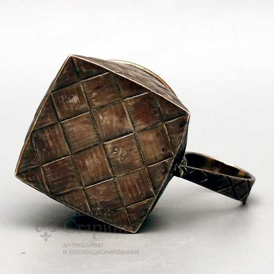 Silver holder with imitation of braiding from birch bark, Russia, late 19th century, 84 sample - photo 3