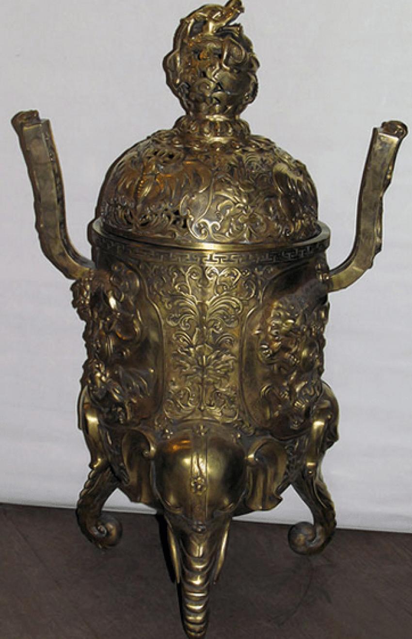 "Censer-tripod ""Elephant""China bronze - photo 1"