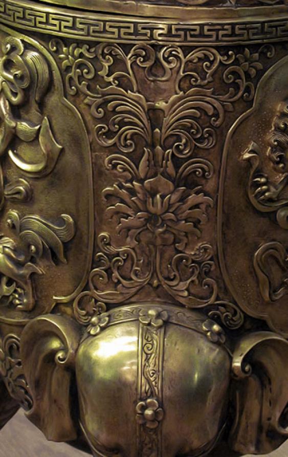 "Censer-tripod ""Elephant""China bronze - photo 3"