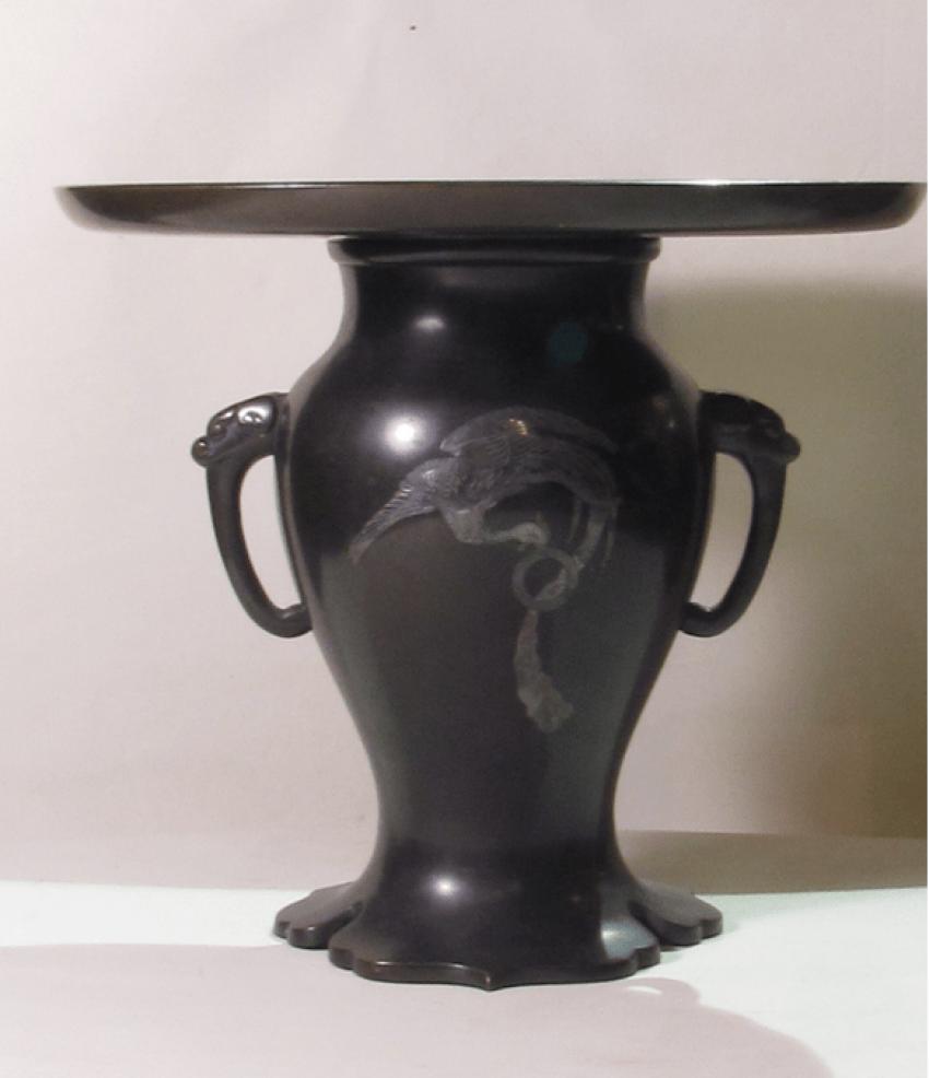 vase for ikebana Japan, bronze - photo 1