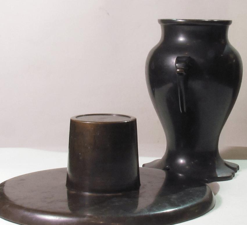 vase for ikebana Japan, bronze - photo 3