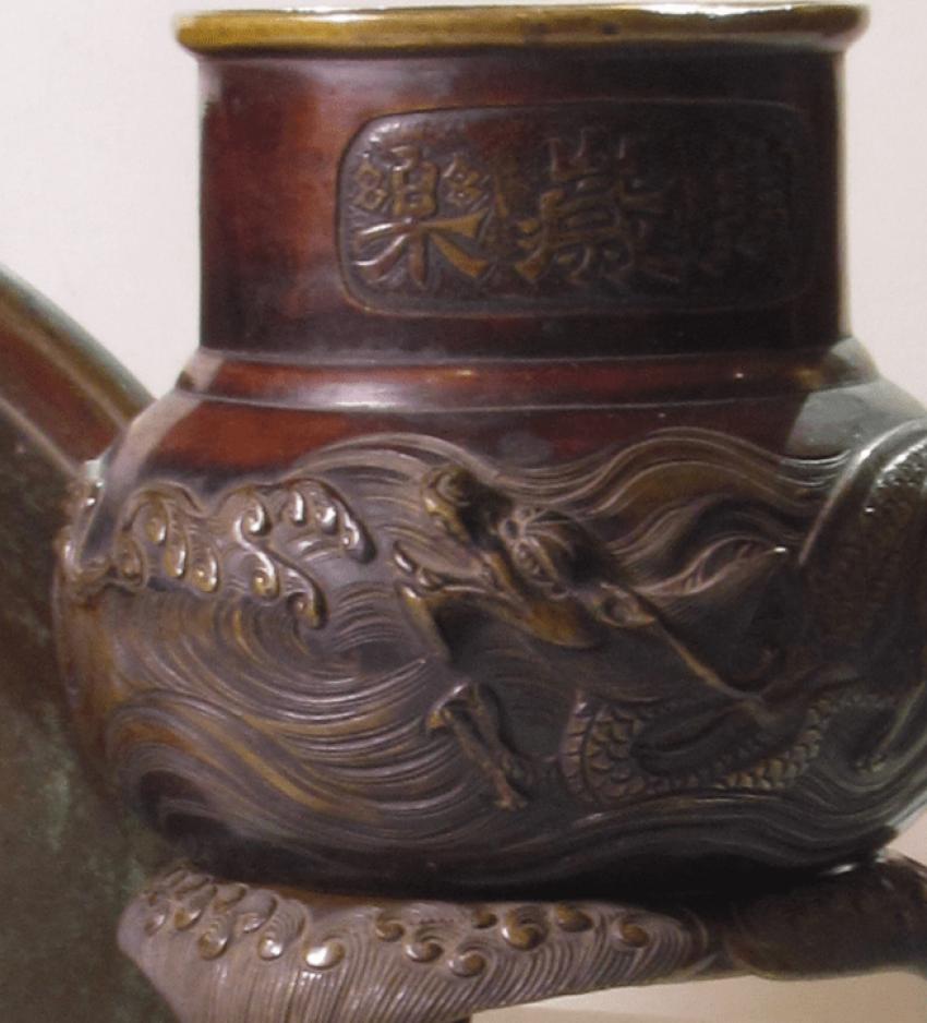 vase for ikebana Japan, bronze - photo 2