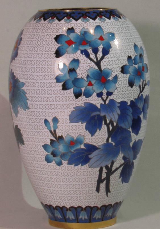 """vase """"Blue flowers""""China bronze - photo 1"""