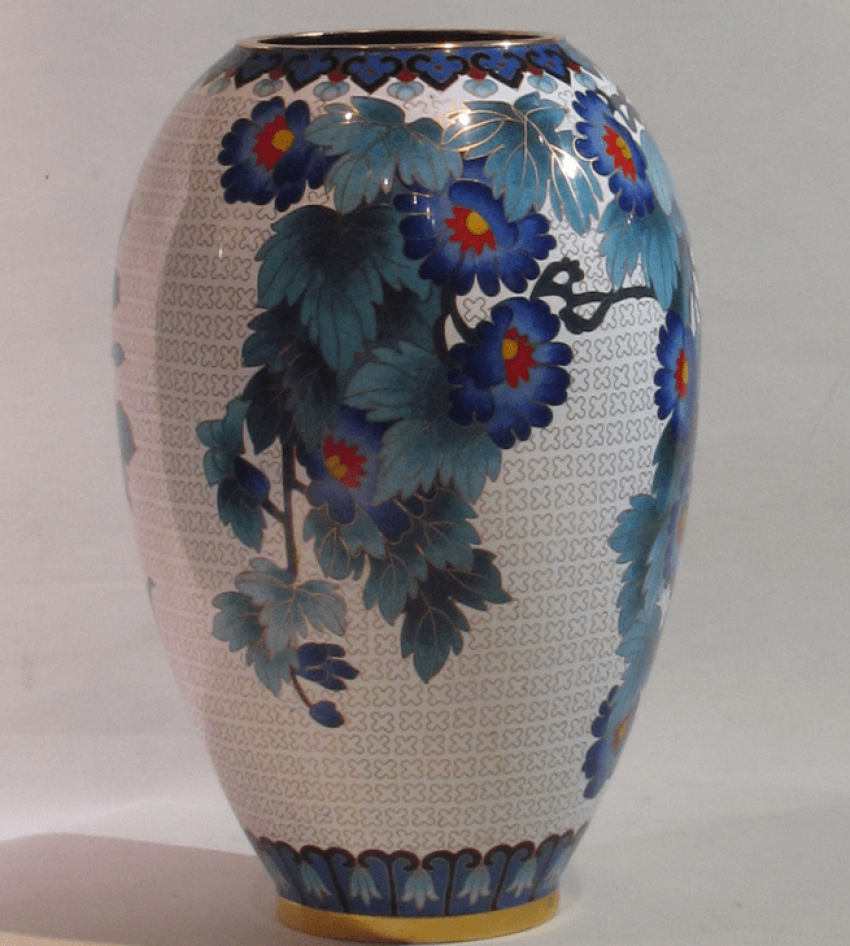 """vase """"Blue flowers""""China bronze - photo 2"""