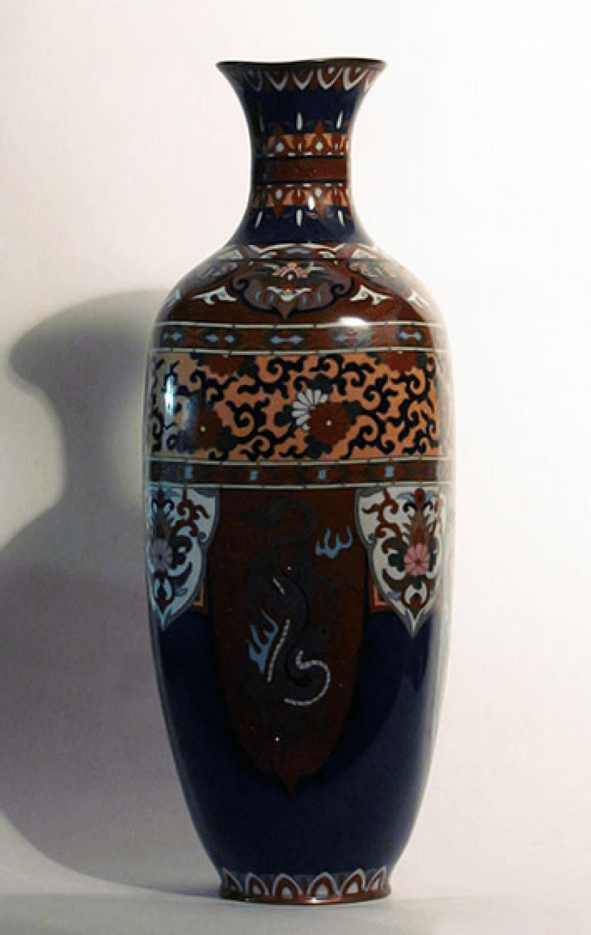 "Vase ""Three dragons""Japan, cloisonné - photo 1"