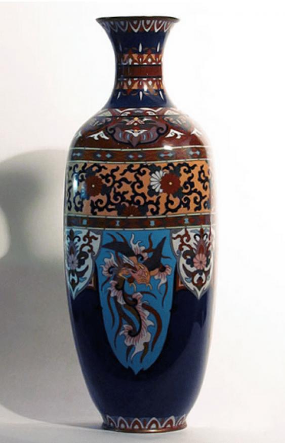 "Vase ""Three dragons""Japan, cloisonné - photo 2"