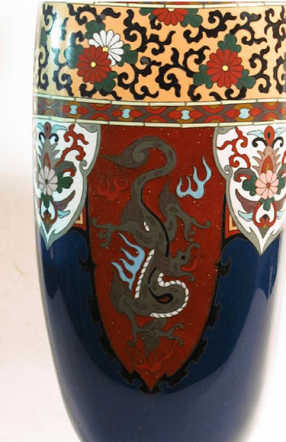 "Vase ""Three dragons""Japan, cloisonné - photo 3"