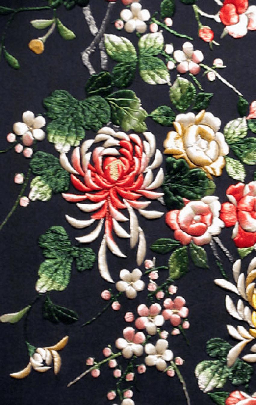 Broderie du Japon, de la soie du 20e siècle - photo 2