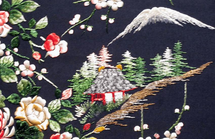 Broderie du Japon, de la soie du 20e siècle - photo 3