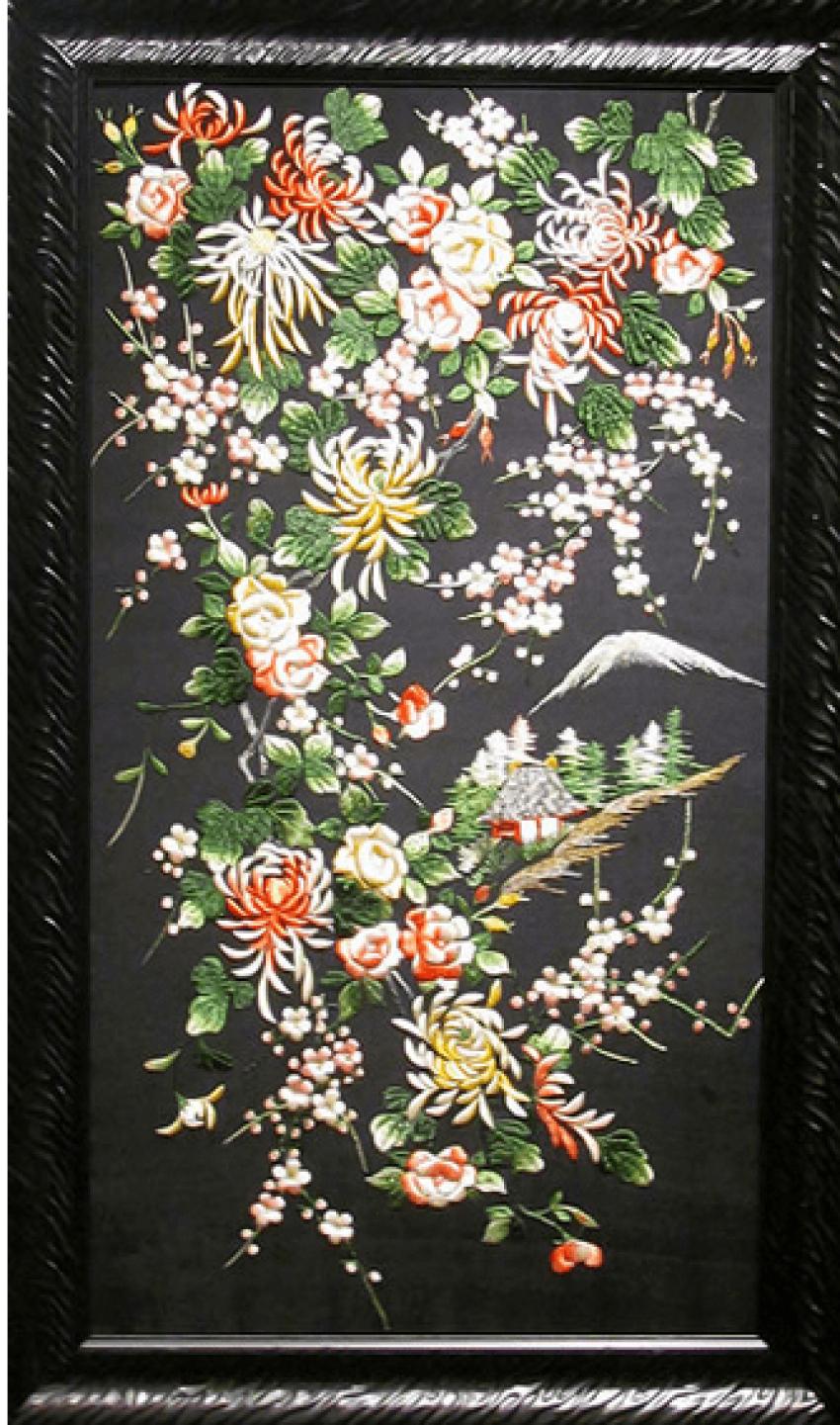 Broderie du Japon, de la soie du 20e siècle - photo 1