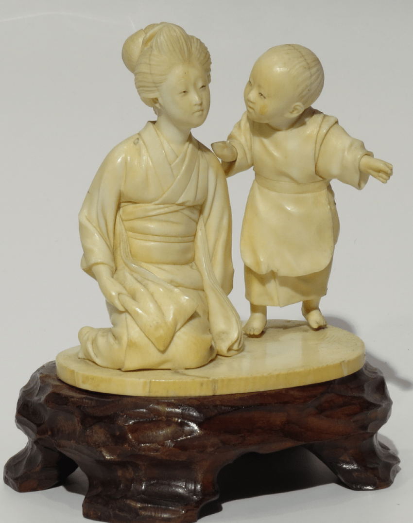 Скульптура, Япония окимоно. - фото 1