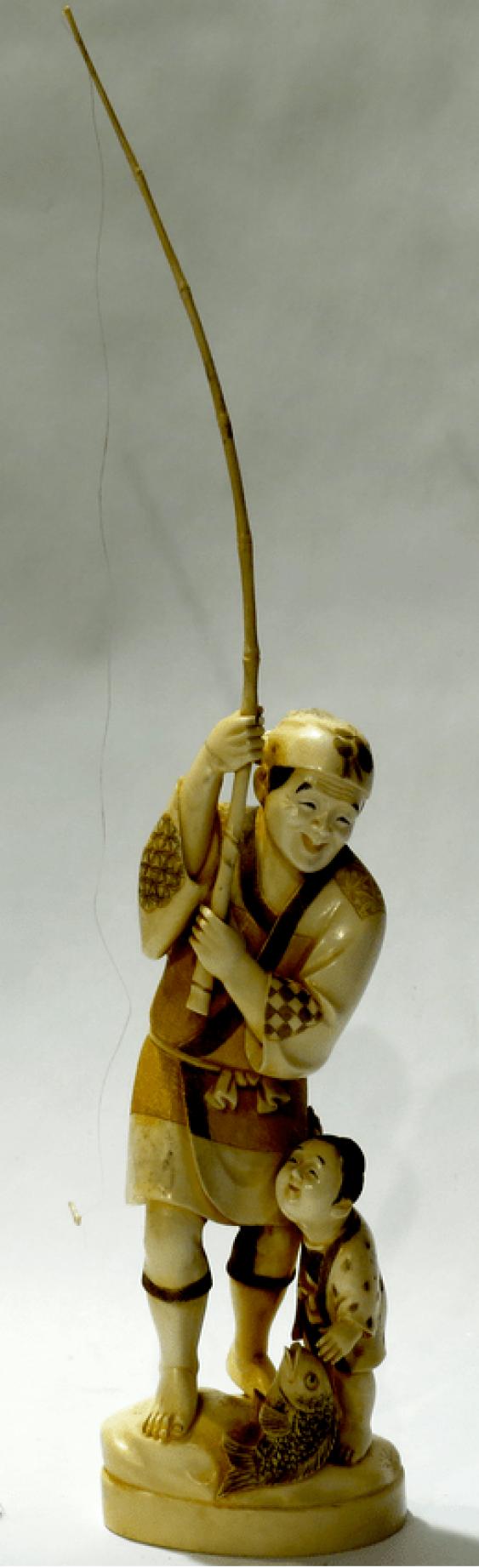 """окимоно. """"Fischer"""". Japan. natsch. 20. Jahrhundert. - Foto 1"""