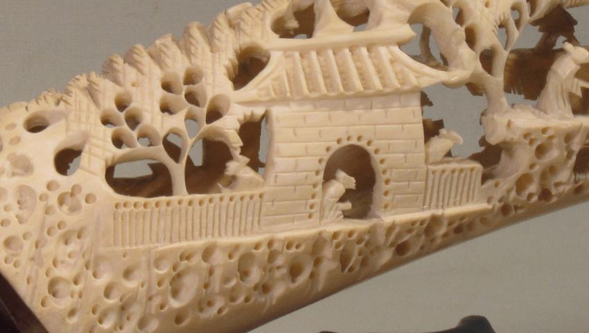 China, jade carving of the bones. - photo 3