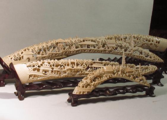 China, jade carving of the bones. - photo 1