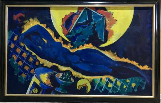 "Kishchenko, A. M./ national hood.Belarus/Painting ""Nude"" 1992 - photo 1"