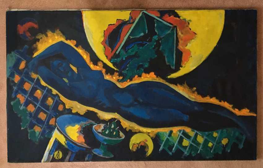 "Kishchenko, A. M./ national hood.Belarus/Painting ""Nude"" 1992 - photo 2"