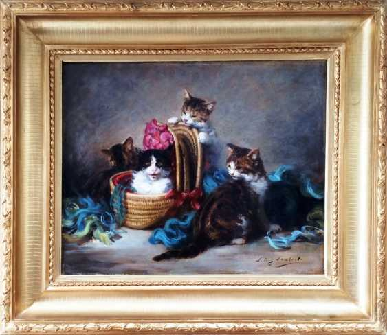 "The picture ""Funny cats"". Louis Eugène Lambert (1825 -1900 ). - photo 2"