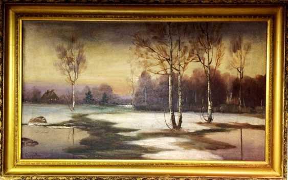 "The painting ""Winter evening"". Egorov. Russia, XIX - n. XX centuries. - photo 2"