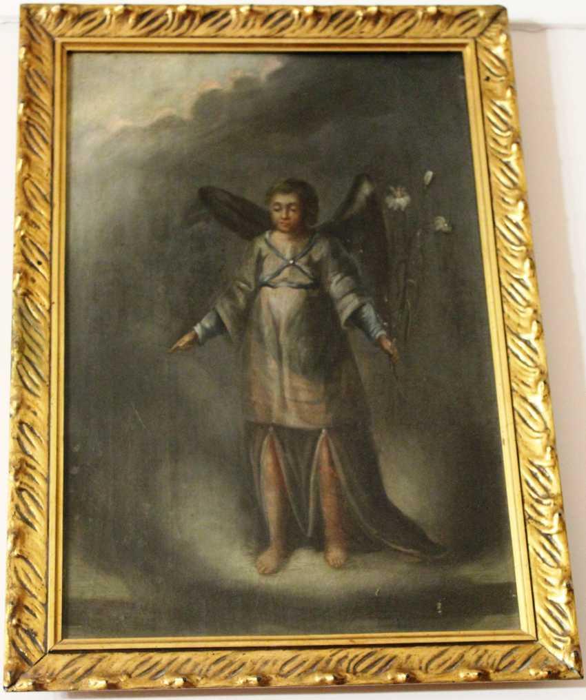 """La Peinture """"L'Archange Gabriel. La puissance de Dieu"""", XIX siècle - photo 1"""