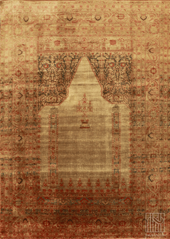 Vintage silk carpet - photo 2