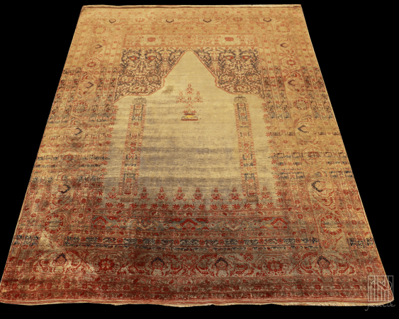Vintage silk carpet - photo 1