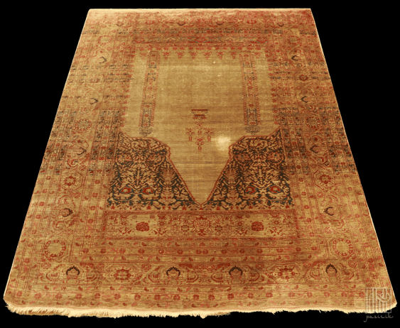 Vintage silk carpet - photo 3