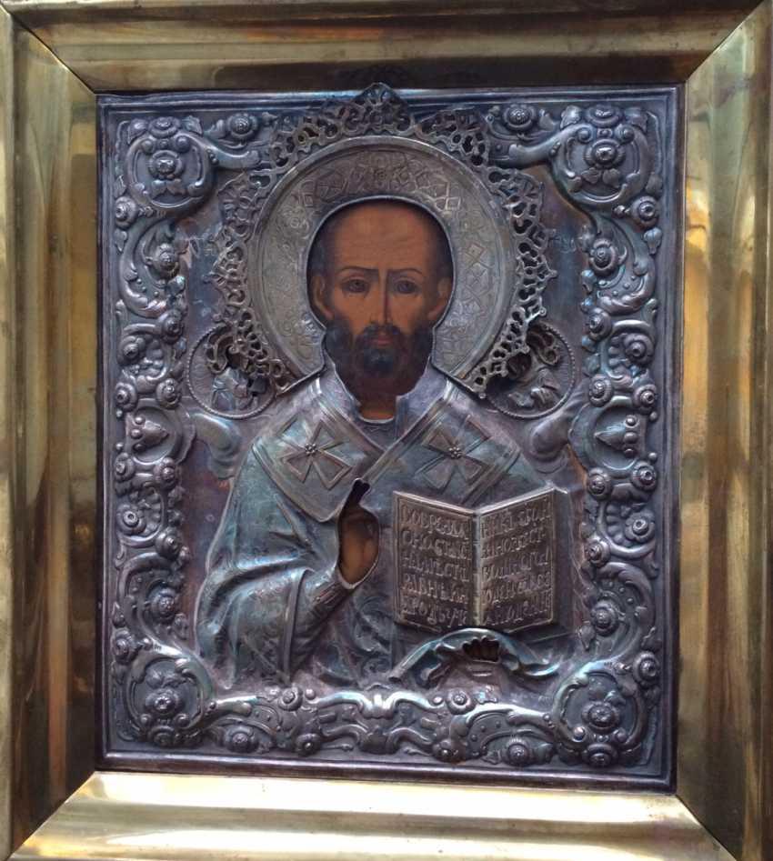 "Icon ""Nicholas The Wonderworker"". 84 Russia, 1858. - photo 1"
