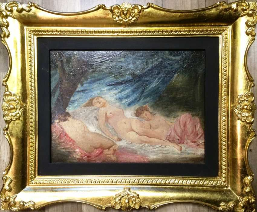 """The painting """"the Three graces"""". C. Chaplin (1825-1891). France. The expert opinion. - photo 2"""