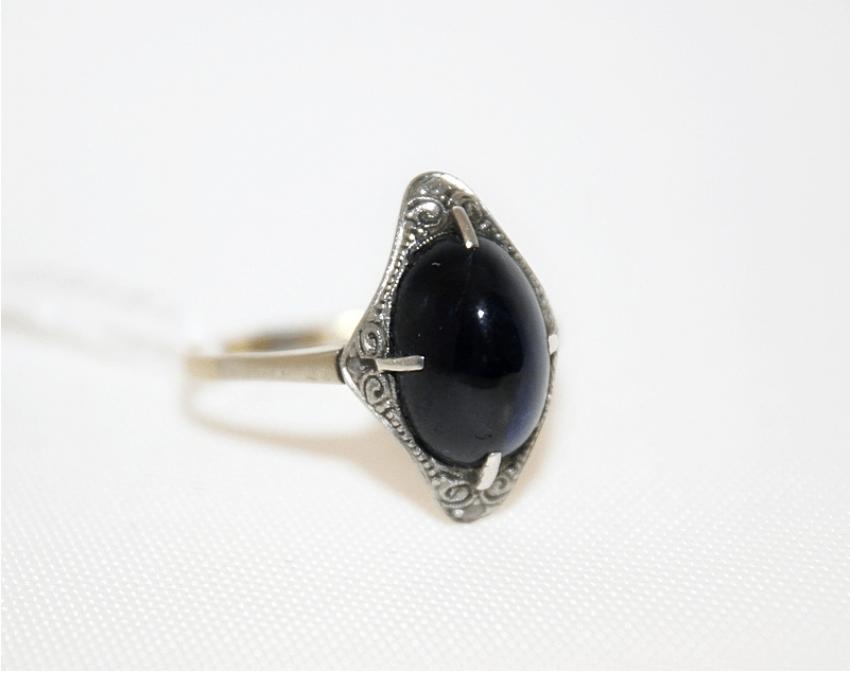 Кольцо с сапфиром - фото 1