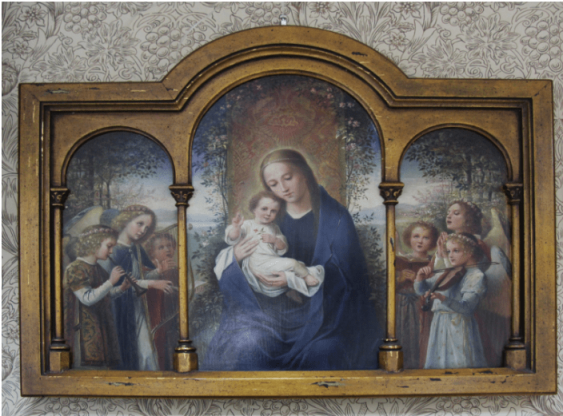 Madonna and child with angels - photo 1